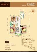 盛和景园二期3室2厅2卫137平方米户型图