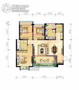北京城建龙樾湾3室2厅2卫98平方米户型图