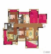 中大城4室2厅2卫117平方米户型图