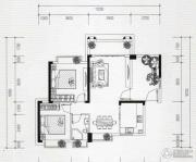 水岸华庭2室2厅1卫0平方米户型图