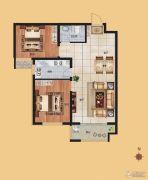 香榭丽都2室1厅1卫93平方米户型图