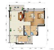 星尚2室2厅2卫83平方米户型图