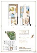 三盛托斯卡纳3期2室2厅2卫41平方米户型图