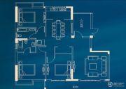 城投・瀚城璞岸3室2厅2卫145平方米户型图
