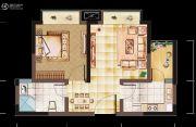 亲亲里1室1厅1卫45平方米户型图