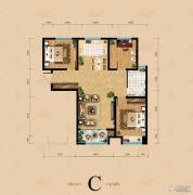 东岳国际3室2厅1卫123平方米户型图