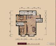 中广宜景湾・尚城2室2厅2卫107--112平方米户型图