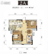 国采光立方2室2厅1卫79平方米户型图