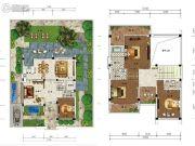 雅居乐云南原乡4室3厅5卫285平方米户型图