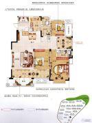 香江帝景3室2厅2卫143平方米户型图