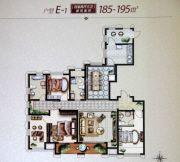 大庆国际金融中心4室2厅3卫185--195平方米户型图