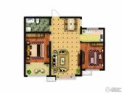 骏景豪庭2室2厅1卫88平方米户型图