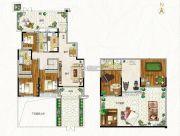 空港新城3室2厅3卫155平方米户型图