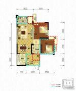领地・国际公馆2室2厅1卫74平方米户型图