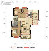 半山壹号3室2厅2卫119平方米户型图