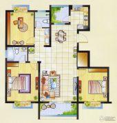 明瑞花园3室2厅2卫121平方米户型图