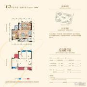九洲・又一城二期3室2厅2卫108平方米户型图