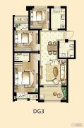 印象欧洲3室2厅1卫96平方米户型图