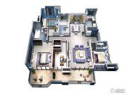 隆豪翡翠星城4室2厅3卫188平方米户型图