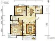 龙泽花园2室2厅1卫86平方米户型图