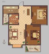 豫大・香港城2室2厅1卫0平方米户型图