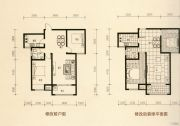 美林・尚东一号2室2厅1卫94平方米户型图