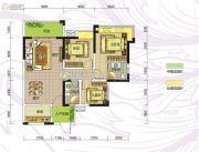 九曲御景3室2厅2卫93平方米户型图