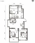 修正・一品汤城2室2厅1卫78平方米户型图