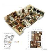 龙洲伊都4室2厅2卫188平方米户型图