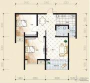 观音南部兴城2室2厅1卫72平方米户型图