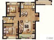 保利翡丽公馆2室2厅1卫89平方米户型图