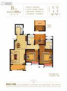 奥克斯缔壹城颐�Z园3室2厅2卫102平方米户型图