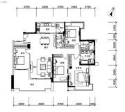 海伦堡流金岁月4室2厅2卫160平方米户型图