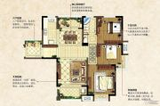 中南锦城3室2厅1卫113平方米户型图