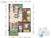 碧桂园・翡翠郡(肇庆大旺)3室2厅2卫98平方米户型图