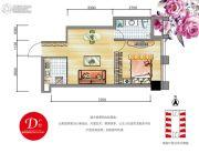 安通・缘梦天地1室1厅1卫53平方米户型图