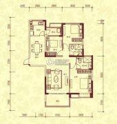 恒大名都3室2厅2卫152平方米户型图