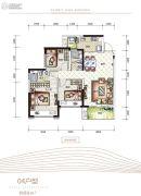 海逸峰�Z89平方米户型图
