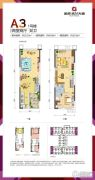 金科米兰大道2室2厅2卫52平方米户型图