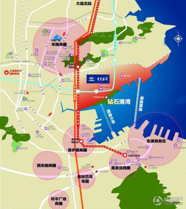 青秀蓝湾位置交通图
