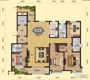 盛邦大都会4室2厅3卫233平方米户型图