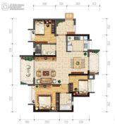 保利西悦湾3室2厅2卫97平方米户型图