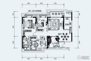鲁能星城3室2厅2卫96平方米户型图