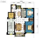 广达公馆2室2厅1卫89平方米户型图