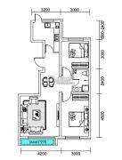 千翔尚城2室2厅1卫92--95平方米户型图