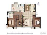 远洋红熙郡3室1厅2卫136平方米户型图