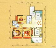 碧园・大城小院3室2厅2卫104--107平方米户型图
