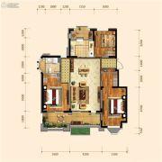 金地檀府2室2厅1卫108平方米户型图