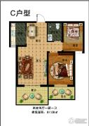 华凯格林郡2室2厅1卫87平方米户型图