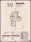 远洋城2室1厅1卫86平方米户型图